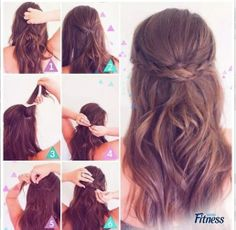 A pretty simple hairstyle to try.