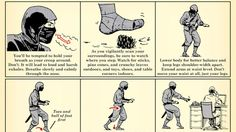 This Chart Shows You How to Silence Your Footsteps Like a Ninja - please don't wake the baby!