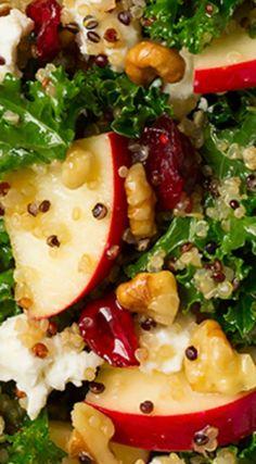 Autumn Kale Apple and Quinoa Salad Recipe