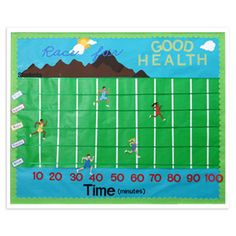 bulleting boards for running the race | Ellisoneducation.com - Race for Good Health Bulletin Board