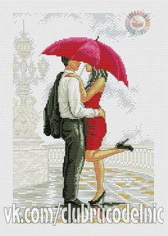 Скачать схему вышивки двое под зонтом