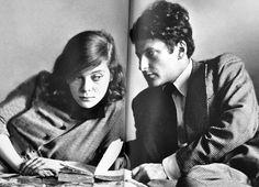Lucian Freud and Lady Caroline Blackwood.