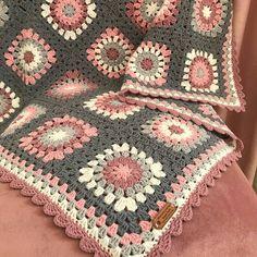 Ideas For Crochet Granny Square Blanket Color Yarns Granny Square Crochet Pattern, Afghan Crochet Patterns, Crochet Squares, Crochet Motif, Free Crochet, Knitting Patterns, Crochet Granny, Crochet Baby, Granny Squares