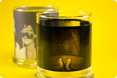 Use your old film negatives to make candle holders!