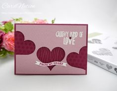 Valentine card. #Stampin'UP!