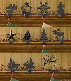 Iron Christmas Stocking Hanger Holder - The Country POrch
