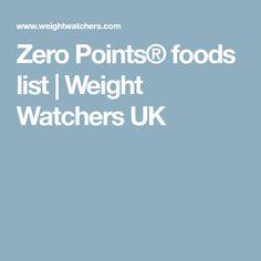 Zero Points® foods list   Weight Watchers UK