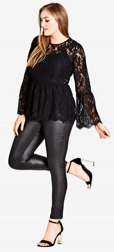 Plus Size Lace Top #plussize #plussizefashion