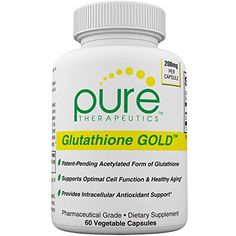 SAcetyl Glutathione GOLD  60 Vegetable Capsules 2 Month Supply 200mg of SAcetylGlutathione PER CAPSULE Efficient Once a Day Dosage  PatentPending Acetylated Form of Glutathione  Supports Natural Antioxidant Activity  Free of Magnesium Stearate  Pharmaceutical Grade SAcetylGlutathione * Check out the image by visiting the affiliate link Amazon.com on image.