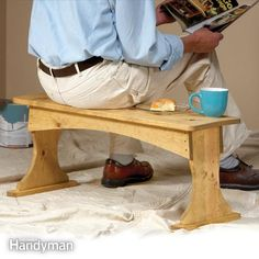 Build this light, but strong bench in about 4 hours. Use it as a table and as scaffolding as well as for sitting.