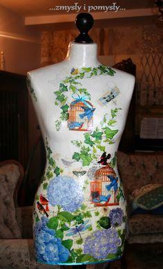 .zmysły i pomysły: manekin Niebieskie Hortensje