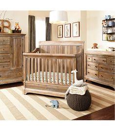 Bertini Pembrooke 4-in-1 Convertible Crib - Natural Rustic