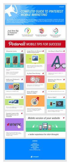 Guida all'utilizzo di  #Pinterest per il Mobile Marketing