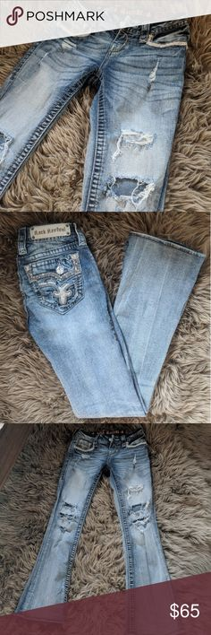 Rock revival Betty Rock revival Betty. Manufacture destroyed. Super cute and in fabulous condition. All stones in tack. No longer fit. Rock Revival Jeans Boot Cut