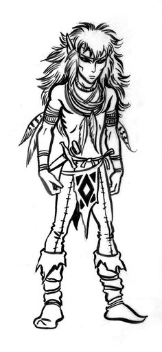 Plains elf drawn by Wendy Pini for the #Elfquest role playing game.