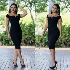 """""""The Black Obsession Midi Is New To The Site  Order Yours Today At www.chaviels.com  Model @iamdamarislopez Is Wearing A Size Small #ootn"""""""
