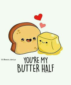 'Butter Half Food Pun' Photographic Print by punnybone Related posts:The Ultimate Easy DIY Valentine's Day Gift Guide - Twins DishFunny puns for kids corny jokes 59 IdeasTop 27 Hilarious jokes Stupid Funny Food Puns, Punny Puns, Cute Jokes, Food Humor, Food Meme, Funny Sarcasm, Dad Puns, Puns Hilarious, Food Food