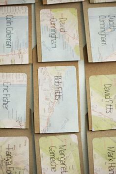 escort cards  Style Me Pretty | Gallery | Picture | #158219