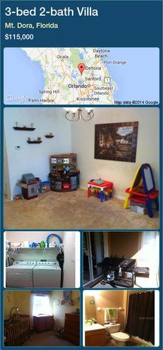3-bed 2-bath Villa in Mt. Dora, Florida ►$115,000 #PropertyForSaleFlorida http://florida-magic.com/properties/40092-villa-for-sale-in-mt-dora-florida-with-3-bedroom-2-bathroom