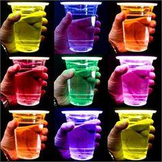 glow stick party cups...so cool ;)