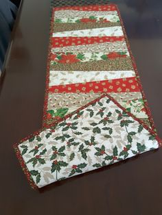 Denise's Christmas table runner 2# front and back