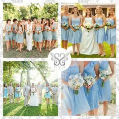 Light blue bridesmaids - Damigelle d'onore color azzurro