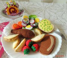 Felt Food Felt Dinner Set Felt Cake Felt Vegetables by decocarin
