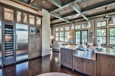 Luxury kitchen wood and stainless