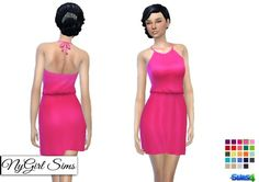 NY Girl Sims: Tied Halter Sundress • Sims 4 Downloads