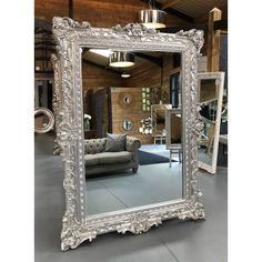 Floor mirrors – William Wood Mirrors Silver Floor Mirror, Huge Mirror, Ornate Mirror, Wood Mirror, Beveled Mirror, Beveled Glass, Floor Mirrors, Extra Large Mirrors, Living Room Decor