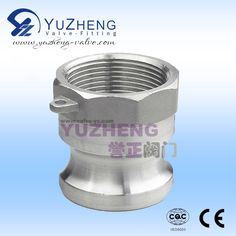 A Type Camlock, one side with female thread, one side with male head, Size: DN15~DN100. Working Pressure:1.6~6.4MPA Application: Water and Oil Industry. At the same time, we also produce stainless steel ball valve, check valve, gate valve, butterfly valve, strainer and so on.Contact: David.   Email &Skype: export1@yuzheng-valve.com. Mobile: +86 18058723339 Butterfly Valve, Gate Valve, Stainless Steel Pipe, Oil Industry, David, Type, Female, Water, Check