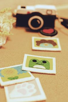 Felt Polaroid play photos. A must for today's hipster child.