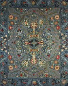 Acanthus Bed Cover, by William Morris (V&A Custom Print)