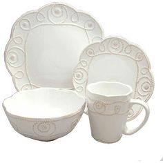 maybe a little to Rope like, but nice    sears.com  Jay Import Jay Import 1566505 Bianca Braid 16 Pieces Dinnerware Set