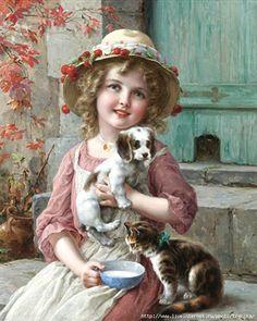 Rosas de Verônica: Menina e seus Animais