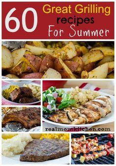 60 Summer Grilling Recipes #memorialday #4thofJuly