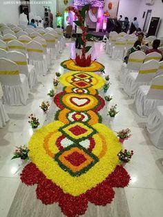 Flower Rangoli For Diwali Flower Rangoli Images, Simple Flower Rangoli, Rangoli Designs Flower, Colorful Rangoli Designs, Rangoli Designs Diwali, Rangoli Designs Images, Beautiful Rangoli Designs, Flower Designs, Simple Rangoli
