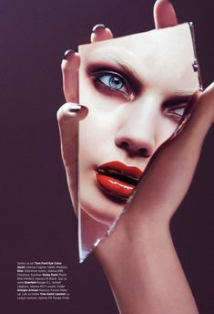beauty editorial Marlen Nohl by Christoph Klutsch for Harper's Bazaar Serbia September 2015