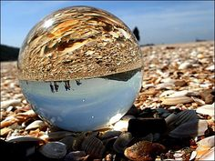 Normandy beach through the crystal ball | Flickr - Photo Sharing!