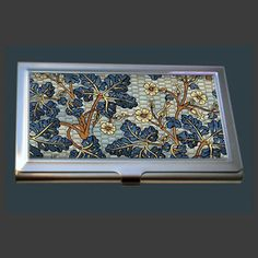 Lacquer nacre mother of pearl business card holder credit id card business card case vintage art nouveau style flowers reheart Gallery