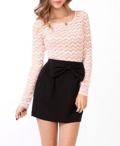 Fitted Zigzag Lace Top | FOREVER21 - 2025285418