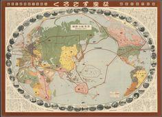 World Flight Routes (1930) #map #flight #travel