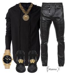 A fashion look from January 2017 featuring L'ÉCLAIREUR hoodies, Versace sneakers and Rolex watches. Browse and shop related looks. Dope Outfits For Guys, Swag Outfits Men, Tomboy Outfits, Tomboy Fashion, Dope Fashion, Casual Outfits, Mens Fashion, Batman Outfits, Rock Outfits