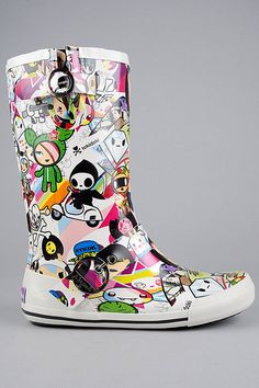 rain boots by tokidoki
