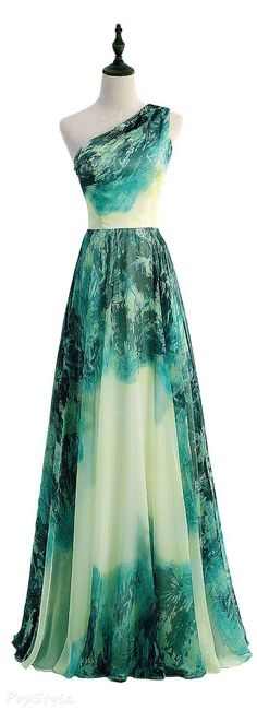 Sunvary Gradient Retro Floral Long Formal Evening Gown