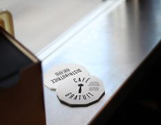 Smallest cafe place in North America, visual identity by Gabriel Lefebvre, via Behance  http://www.behance.net/gallery/Smallest-cafe-place-in-North-America-visual-identity/5596801#