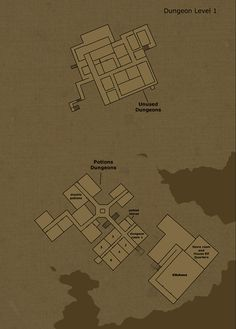 Theorized floor plan of Hogwarts Castle Dungeon Level 1 by Hogwarts-Castle