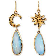 Judy Geib Sun & Moon Opal Earrings, Instyle