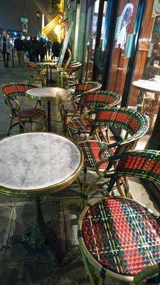 Parisian Cafe chairs in Tartan!