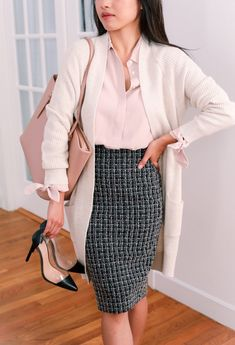 Business Casual Skirt, Business Professional Outfits, Business Casual Outfits For Women, Fall Outfits For Work, Buisness Casual Dress, Business Skirts, Business Casual Womens Fashion, Casual Professional, Business Attire